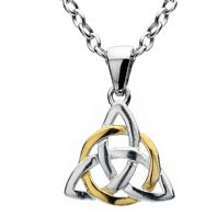 Celtic Knot Silver & Gold Pendant